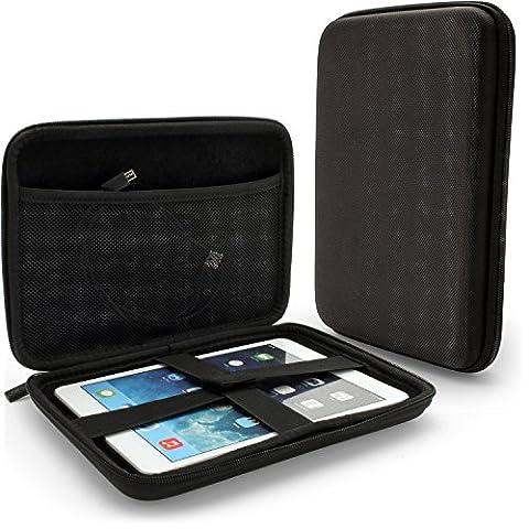 igadgitz Schwarz EVA Hart Reise Tasche Schale Cover Gehäuse Hülle für Apple iPad Mini 1., 2. Generation mit Retina & Neu iPad Mini