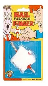 Novelty Joke Gag Trick Nail Bandaged Finger for Party Bag Filler Favor