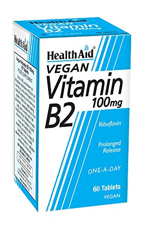 HealthAid Vitamin B2 (Riboflavin) 100mg - Prolong Release - 60 Tablets