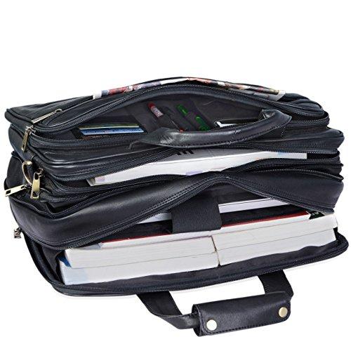 059ab41d0f ... STILORD Leopold Grande borsa in pelle da Insegnante Professore  Portadocumenti a tracolla per Ufficio Lavoro A4