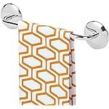 mDesign Toallero adhesivo AFFIXX para paños de cocina y toallas – Montaje sin taladro - Práctico toallero de barra autoadhesivo para cocina y baño – Acero inoxidable cromado