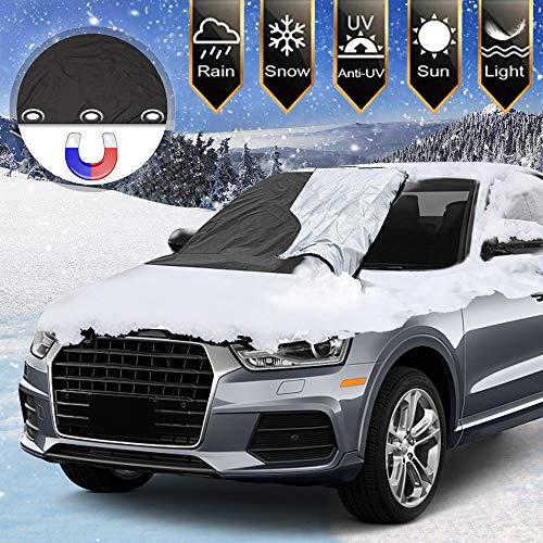 Protezione per parabrezza,copertura parabrezza auto, protezione parabrezza auto ghiaccio, anti uv antighiaccio, antigelo,telo magnetico per parabrezza, per la maggior parte dei veicoli 210 * 120cm