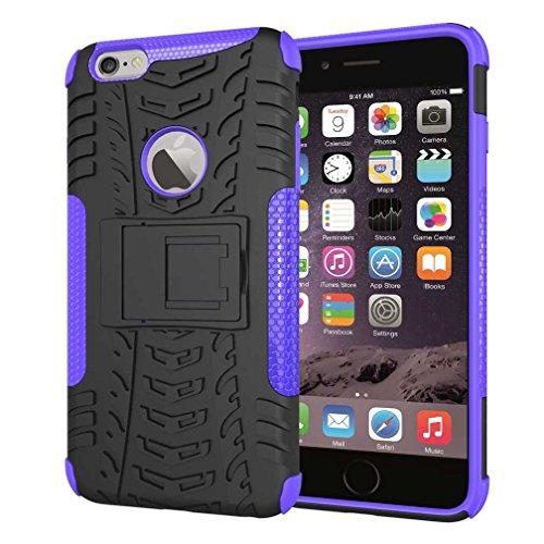 """iPhone 6S Plus Coque AOFad Béquille Vidéo Protection des lourds orange noir Plastique TPU Hybride Antiskid 2 à 1 Série Pour Femme Homme Accessoires Case 5.5"""" Q028 AOFad Style 110"""