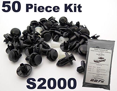 50 Pièces - Garniture En Plastique Assortiment Clip Kit de Montage - Honda S2000 - Complete Passage de roue et carénage / undertray Clips