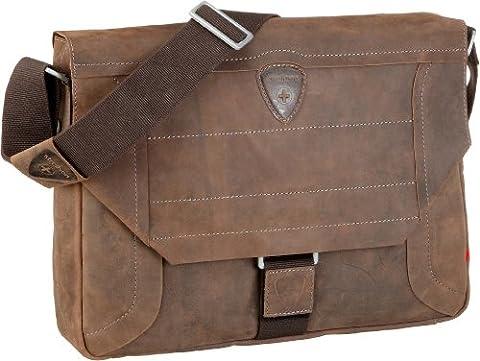 Strellson Hunter Messenger LH 4010000189 Herren Messengertaschen 39x31x9 cm (B x H x T), Braun (dark brown 702)