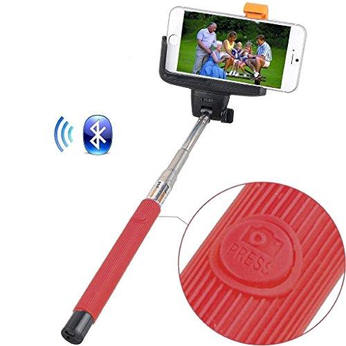 Remote Camera selfie Stick (Red) Rivero senza