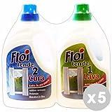 Floi Set 5 Detersivo bucato Tende Duetto Lava+Cura 1+1 lt.