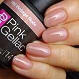 Pink Gellac Gel-Nagellack Shellac, Uncovered1 Kollektion 15ml UV Nagellack farbiger Nagellack Nagellackfarben (166 Vintage Nude)