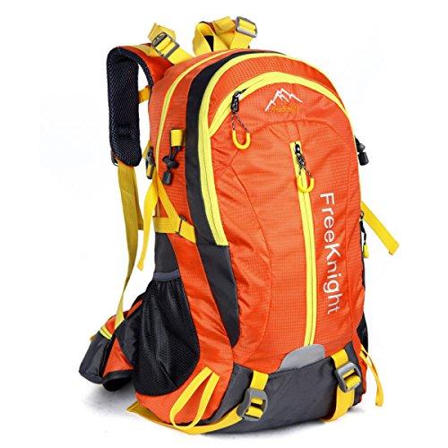 40L Wasserdicht Im Freien Lässige Kleidung Reisen Rucksack Licht Klettern Schulter Tasche Orange