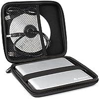 Salcar 870505, Estuche protector universal, Funda de superficie dura para unidades de reproducción interna y externas, para DVD, negro