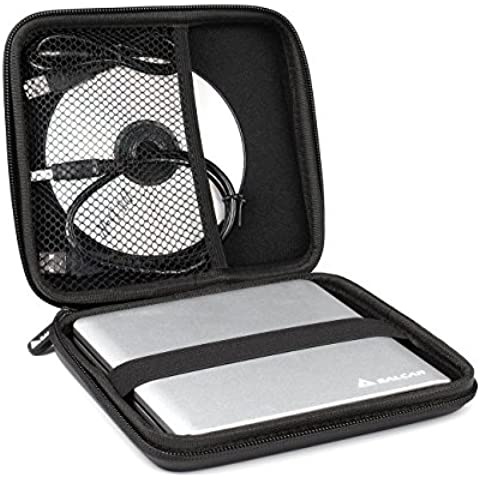 Salcar - Estuche protector universal Funda de superficie dura para unidades de reproducción interna y externas para Apple & DVD CD Blu Ray grabador externo HDD Disco Duro universales Quemar