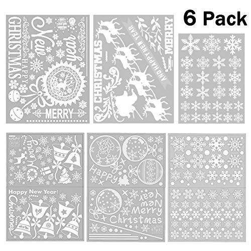 MAIKEHIGH 250+ Christmas Snowflake Window Clings Decal Pegatinas de Pared - Navidad/Vacaciones...