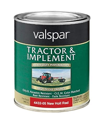 Valspar 4432-05 New Holland Red Tractor and Implement Paint - 1 Quart by Valspar