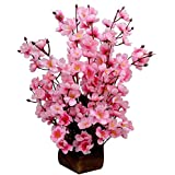 Hyperboles Pink Assorted Artificial Flower with Pot