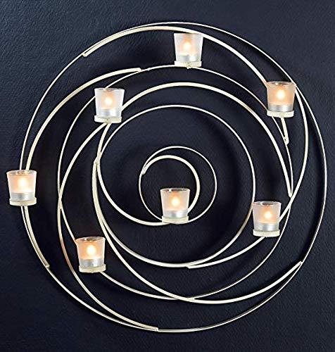Riesiger Metall Wandleuchter von GILDE - für Teelichter - 61cm breit