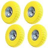 Roues en caoutchouc solide AllRight - roues de diable, brouette, chariot en caoutchouc - jaune