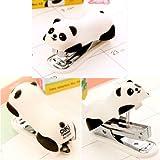 Kleines Heftgerät in Panda-Optik für Büro oder Zuhause - 2