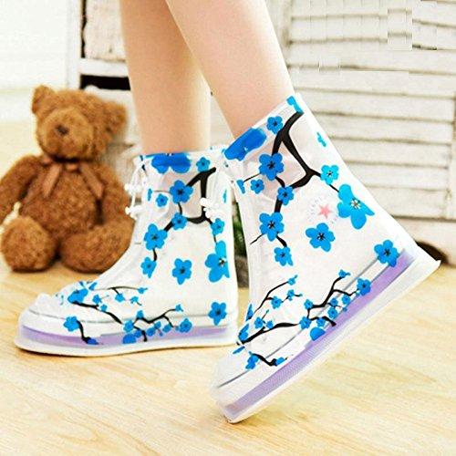 HHBO Copertura di pioggia floreale Copertura impermeabile delle scarpe delle donne delle donne antiscivolo 1