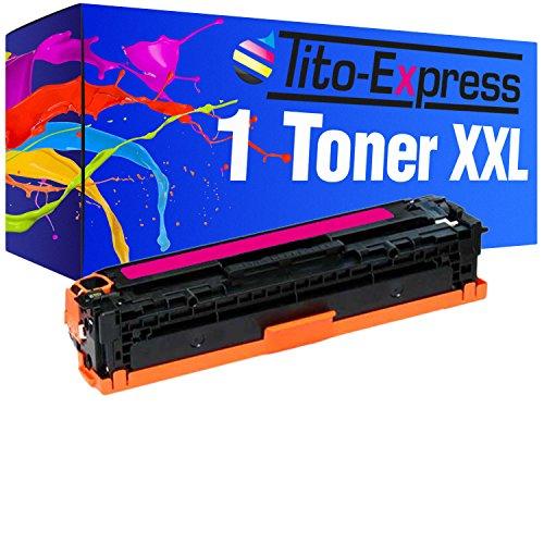 Tito-Express PlatinumSerie 1x Toner-Patrone XXL Magenta kompatibel mit HP CB543A 125A HP Color Laserjet CP 1210 CP 1213 CP 1214 CP 1214 N CP 1215 CP