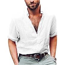 camicia uomo lino cotone it Amazon qZCw5ZFE