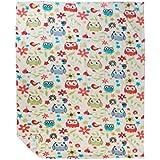 Mee Mee Soft Baby Blanket (Snuggly Comfort, Orange - Owl Print)