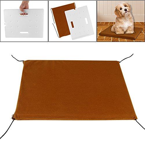 Haustiere Kühlende Matratzenauflage für Hunde Katzen, AOZBZ Wasserdichte Kühlmatte Cooler Pad Bett Wärme Entlastung nicht giftig für Sommer (Pad Chill)