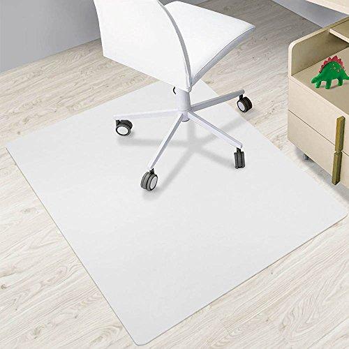 SAILUN® Bodenschutzmatte - 4 Größen zur Wahl – Halbtransparent Bürostuhlunterlage Stuhlunterlage Schutzmatte Büro Hartböden für Hartböden, Laminat, Parkett und Fliesen (Halbtransparent 90 x 90 cm)