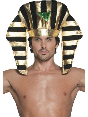 Smiffys Karneval Kostüm Zubehör Pharao Hut ägyptisch schwarz Gold Ägypter