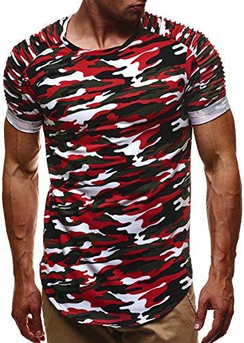 LEIF NELSON -  Felpa con cappuccio  - Uomo Camouflage Rot-Toene