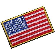 nalmatoionme nuevo no SEW gamuza de bandera de Estados Unidos conjunto bordado parche Badge