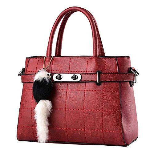 Shuhua Nuova Moda Donna Borsa Donna Messenger Bag Pu Borsa In Pelle Nera