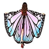 Rcool Beautiful Butterfly Wings Wrap Shawl Fairy Women Girls Nymph Pixie Poncho Costume Dresses Capes Stoles Coat Accessory (Pink)