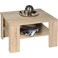 PROLINE-Tische KG M2267 Santos - Mesa de café (70 x 70 cm, madera de roble sonoma, con repisa inferior)