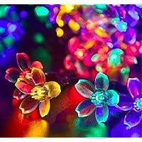 NNIUK 20 LED Fiore di pesca Luce Fata Fiore String luci a pile per il Natale di nozze biancheria da letto decorazione del giardino. - Guardare La Finestra Sul Cortile