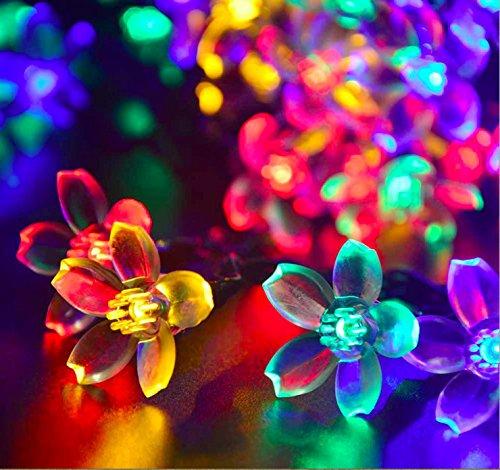 NNIUK 20 LED Fiore di pesca Luce Fata Fiore String luci a pile per il (Farfalla Strings)