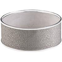 Interdesign Twillo 34782EU per frutta per piano di lavoro da cucina/Metallico/Cellier plastica trasparente, 10,16 X 25,4 X 25,4 cm