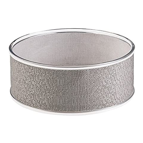 InterDesign Twillo Fruit Bowl, Metallico/Clear