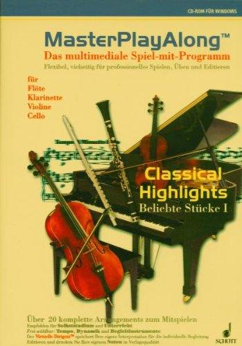MasterPlayAlong, 1 CD-ROMDas multimediale Spiel-mit-Programm für Flöte, Klarinette, Violine und Cello. Für Windows 3.1/95/98. Über 20 komplette Arrangements z. Mitspielen. Flexibel, vielseitig f. professionelles Spielen, Üben u.