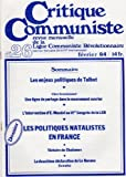 Critique Communiste, revue de la LCR (nouvelle série) n° 26 - 02/1984 - Talbot/Zéro licenciement/Ernest Mandel/Dossier : politiques natalistes en France/Chalamov/Déclaration de La Havane...