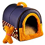 ACTNOW Pet house 2-in-1 and Classic Portable Washable Sofa Non-Slip Dog Cat Cave House Beds with Removable Cushion Warm… 12