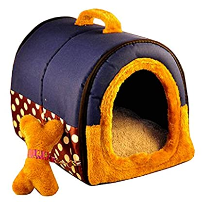 ACTNOW Pet house 2-in-1 and Classic Portable Washable Sofa Non-Slip Dog Cat Cave House Beds with Removable Cushion Warm… 1