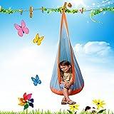 Siège Suspendu, KING DO WAY Hamac Siège Suspendu Enfant Hamac Gonflable Balançoire Chaise Nid Enfant 152cm Hauteur