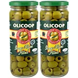 Olicoop Green Pitted Olive, 450g, Pack of 2, Produced in Spain