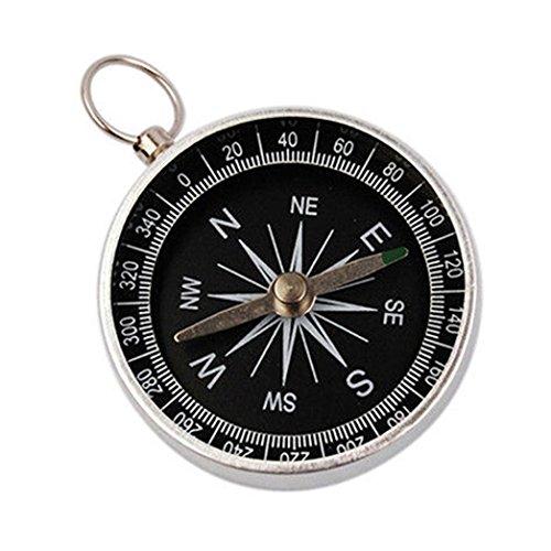Taschenkompass Kompass OHQ Wasserdichter Silberkompass Klassischer Marschkompass mit Leuchtziffern für Camping Outdoor Geschenk