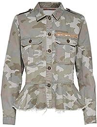 52e4f8e70545 Only Damen Jeans-Jacke Arwen CAMOUFLAGE Military Frill Übergangsjacke