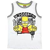 Simpsons T-Shirt Trägershirt Top Bart Simpson weiß (83481) Gr. 140