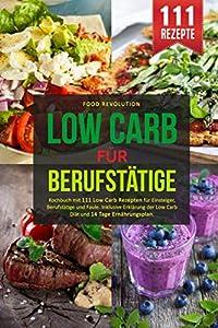 LOW CARB FÜR BERUFSTÄTIGE: Kochbuch mit 111 Low Carb Rezepten für Einsteiger,...