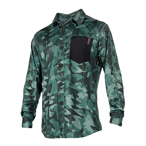 Mystic 2018 Shred Quickdry Blouse Green Allover 180141