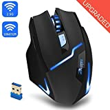 wireless gaming mouse, profi - optical mouse einstellbare führte gaming - mäuse 3 dpi level 6 buttons 2,4 ghz mit usb - empfänger für pc, mac pro - gamer - laptop, netbook