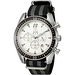 Jivago Men's 'Timeless' Quartz Stainless Steel Casual Watch (Model: JV4512NBK)